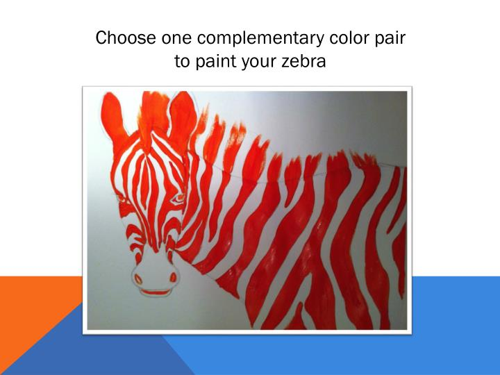 Choose one complementary color pair
