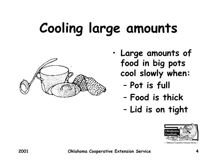 Cooling large amounts