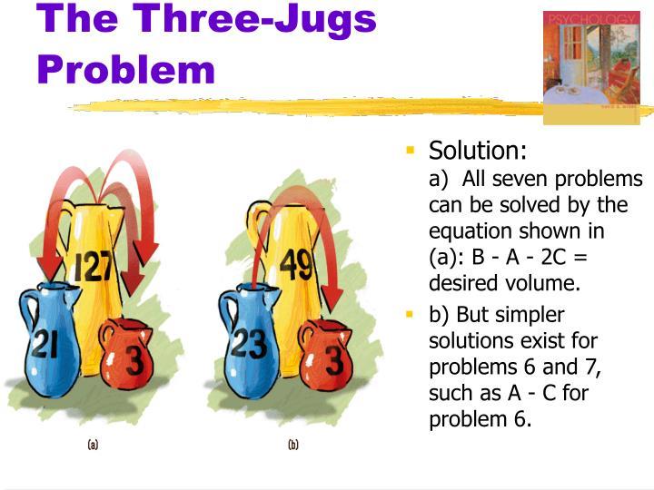 The Three-Jugs Problem