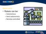 robots cont d