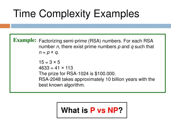 Time Complexity Examples