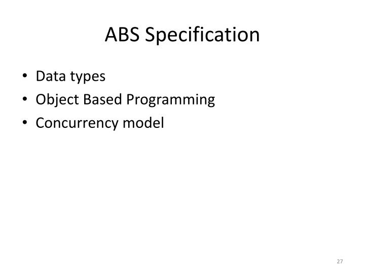 ABS Specification