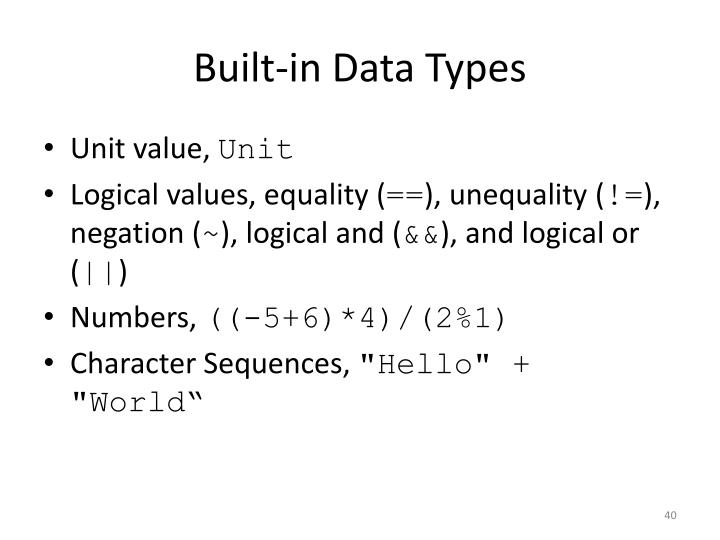 Built-in Data Types