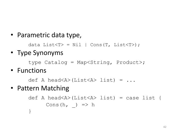 Parametric data type,