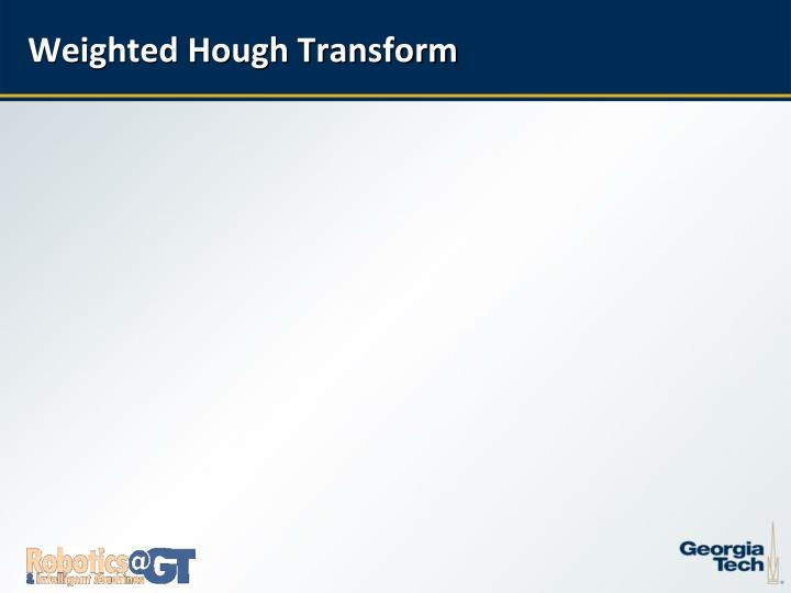Weighted Hough Transform