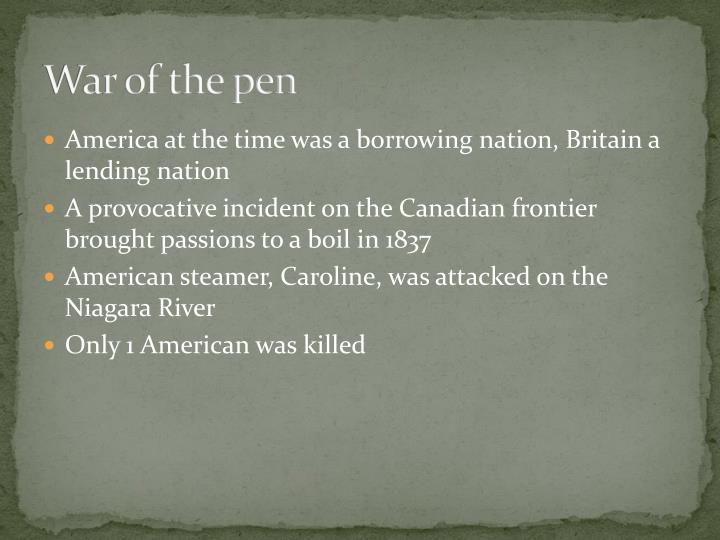 War of the pen