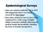 epidemiological surveys