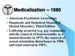 medicalization 1980