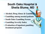 south oaks hospital sheila blume md