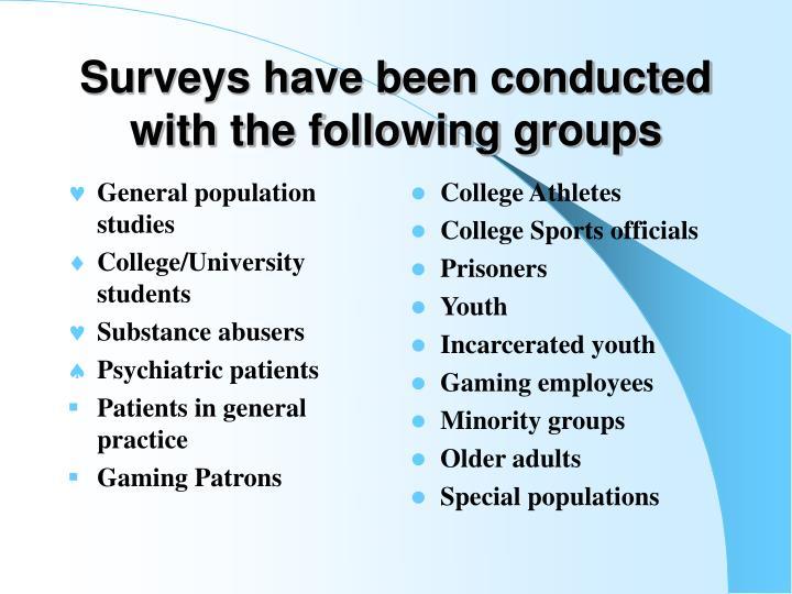 General population studies