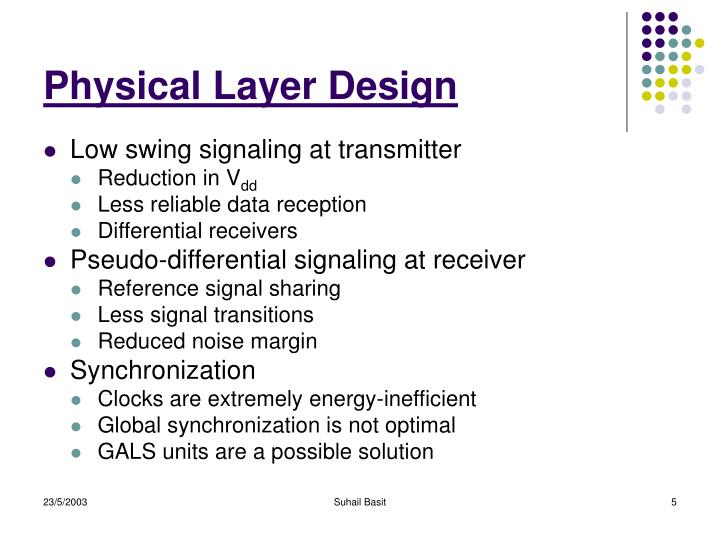 Physical Layer Design