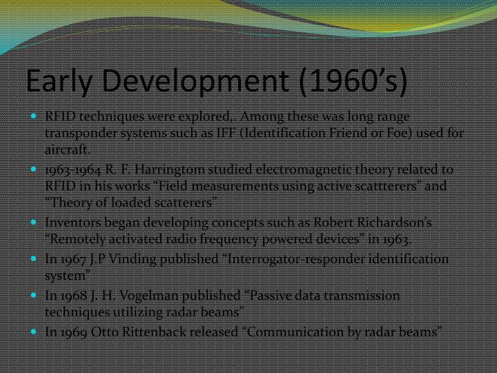 Early Development (1960's)