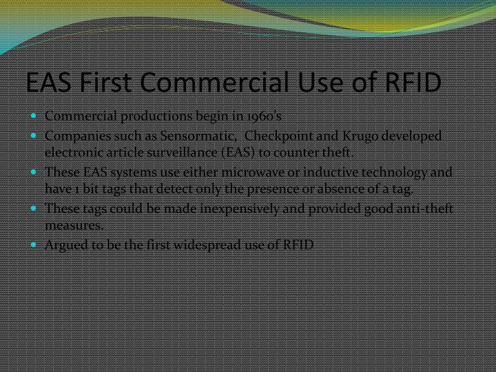 EAS First Commercial Use of RFID