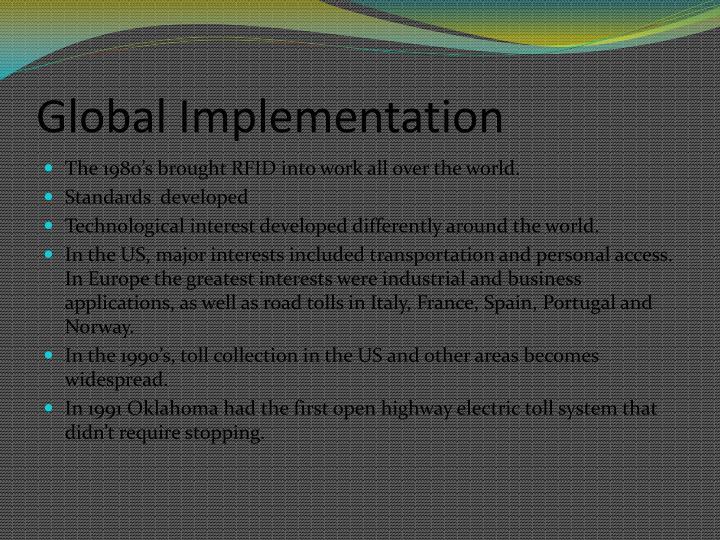 Global Implementation