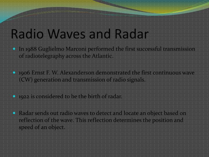 Radio Waves and Radar