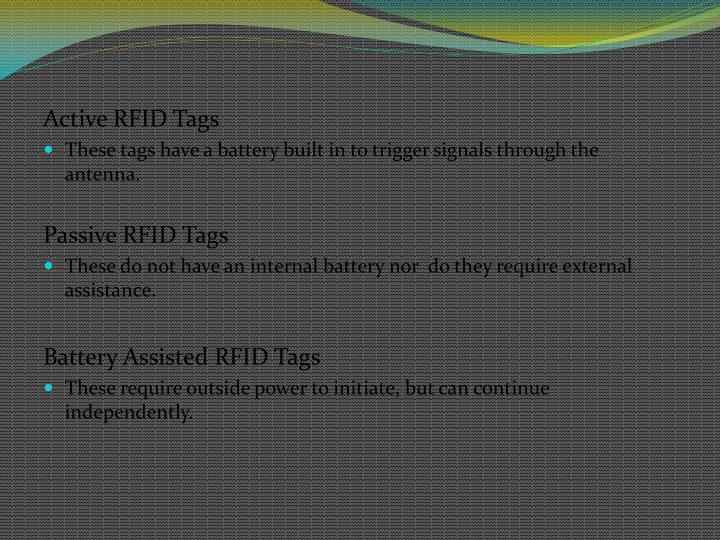 Active RFID Tags