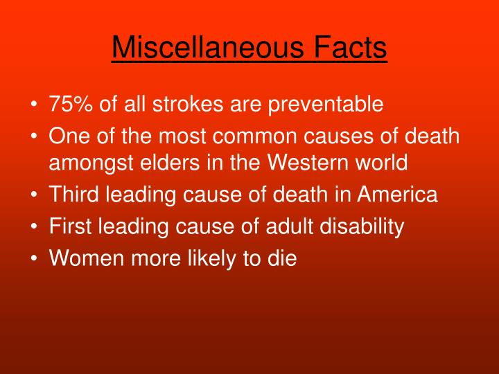Miscellaneous Facts