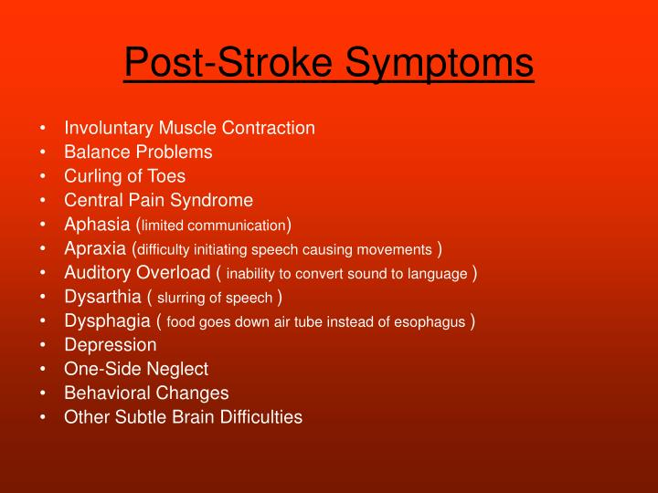 Post-Stroke Symptoms