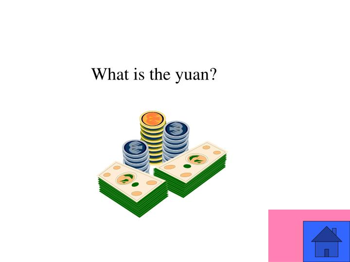 What is the yuan?