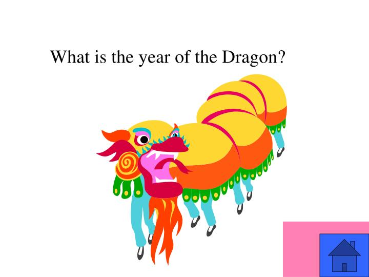 What is the year of the Dragon?