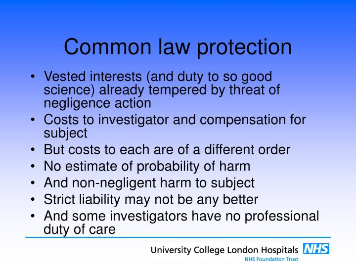 Common law protection