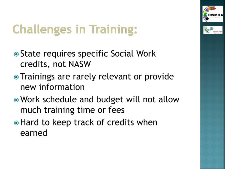 Challenges in Training: