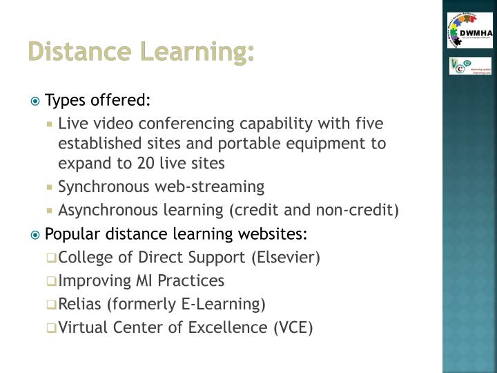 Distance Learning: