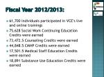 fiscal year 2012 2013