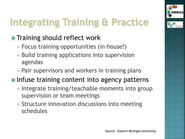 Integrating Training & Practice