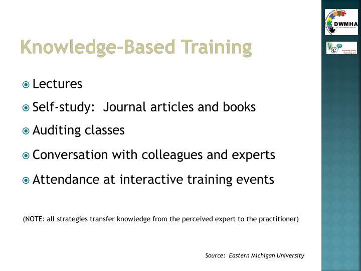 Knowledge-Based Training
