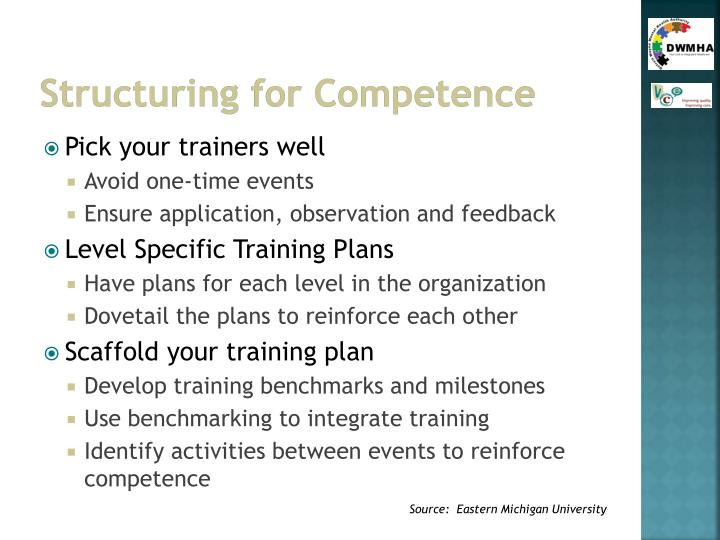 Structuring for Competence