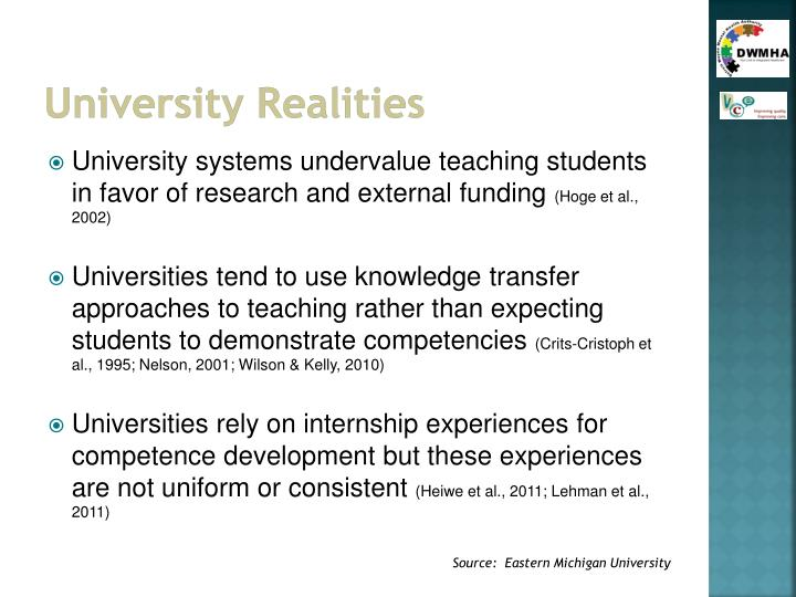 University Realities