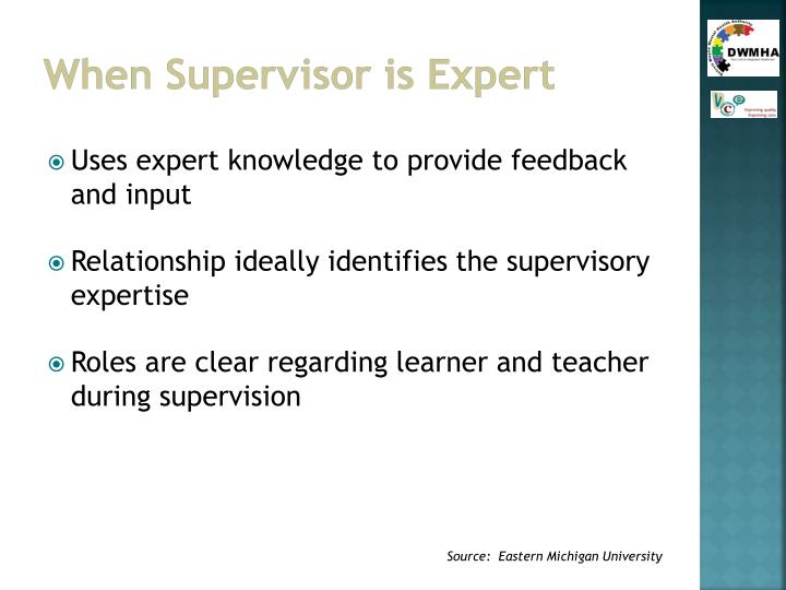 When Supervisor is Expert