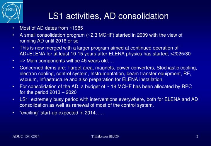 Ls1 activities ad consolidation