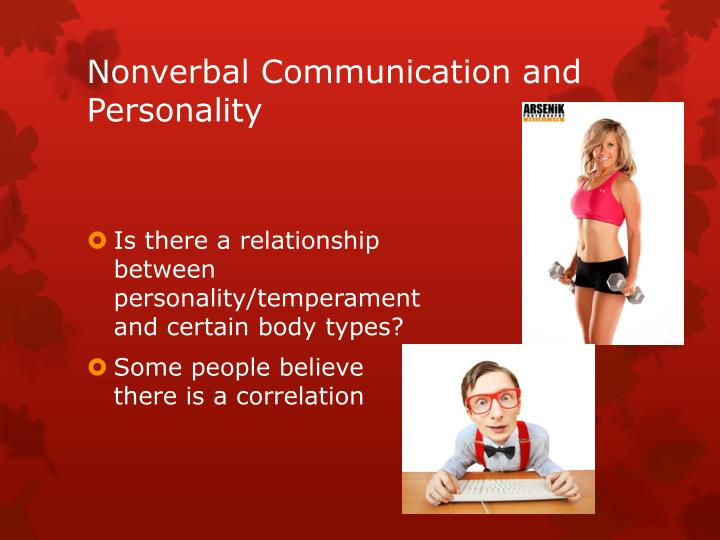 Nonverbal Communication and Personality