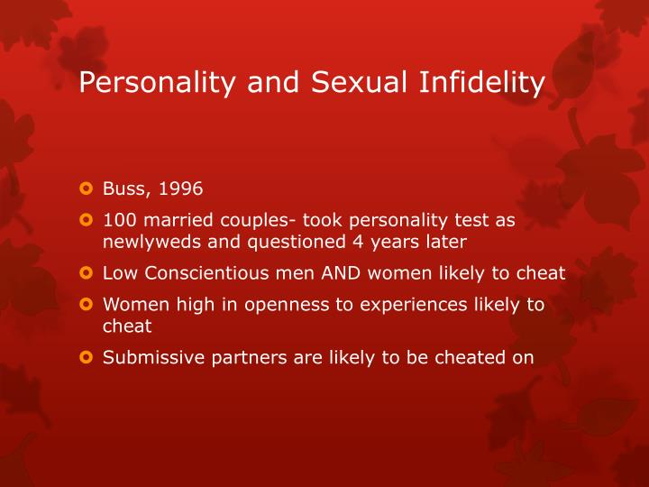 Personality and Sexual Infidelity