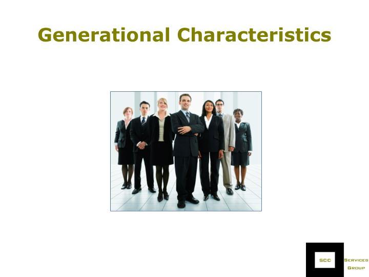 Generational Characteristics