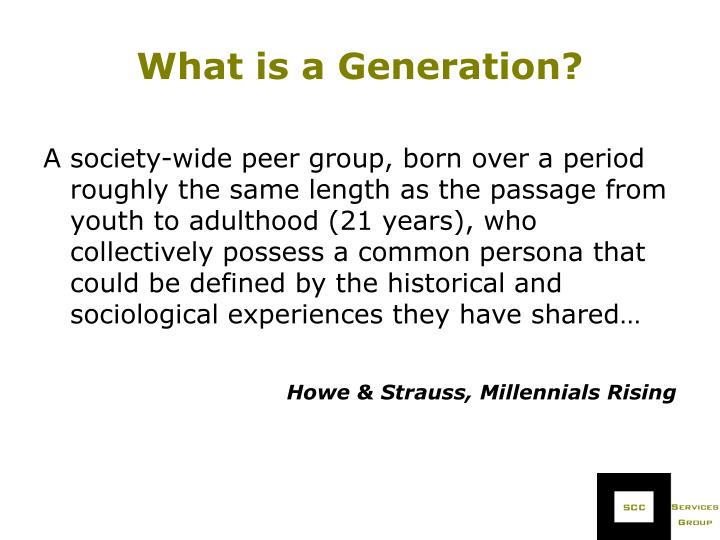 What is a Generation?