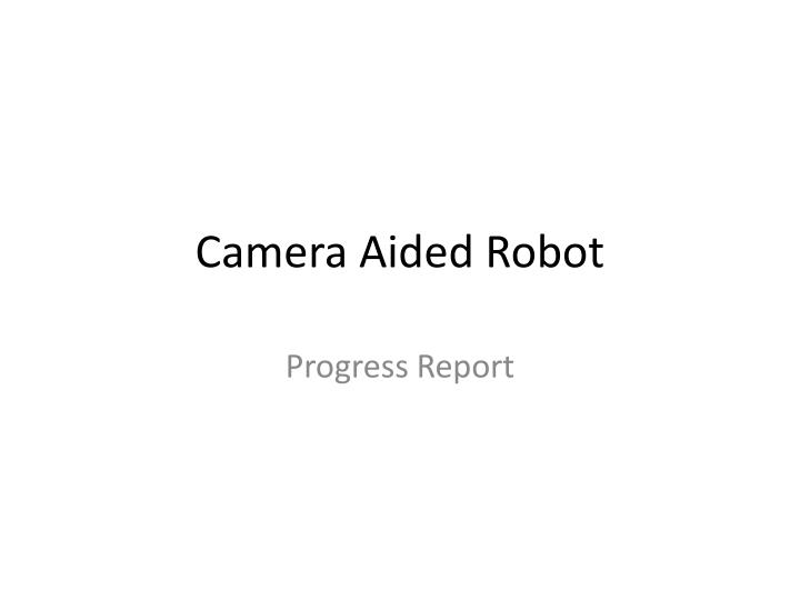 Camera aided robot