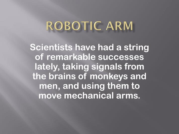 Robotic arm1