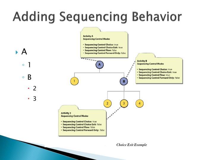 Adding Sequencing Behavior