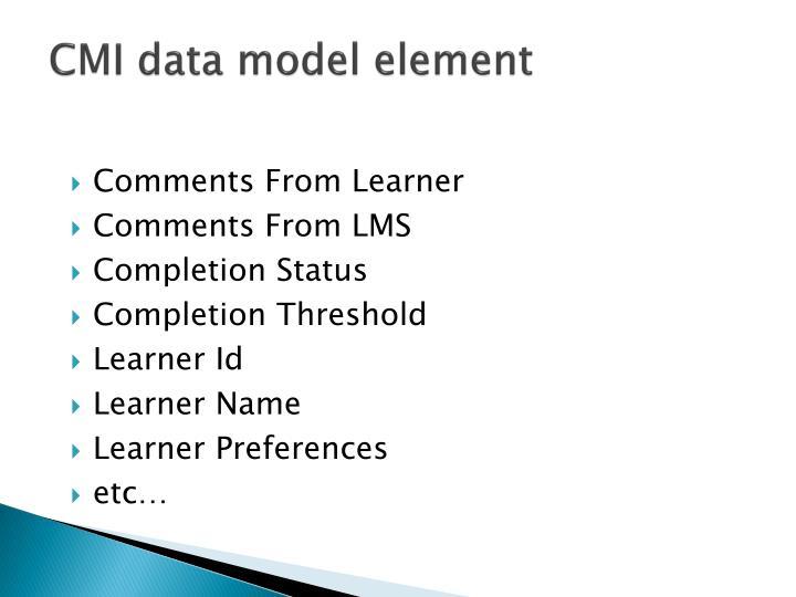 CMI data model element