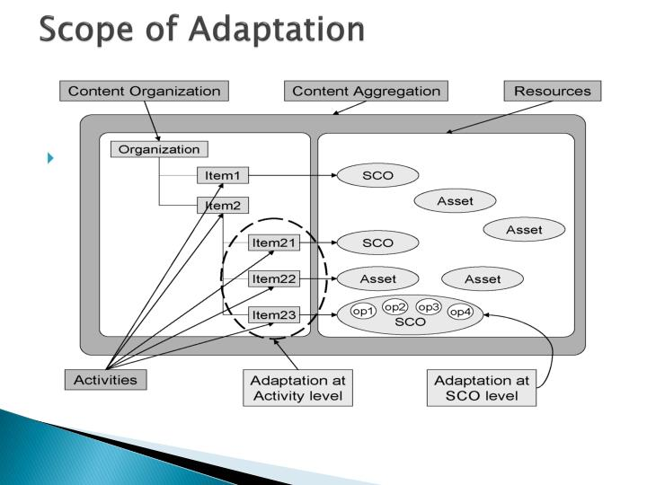 Scope of Adaptation