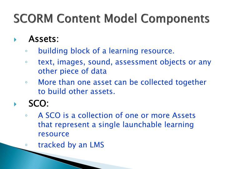 SCORM Content Model Components