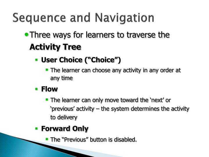 Sequence and Navigation