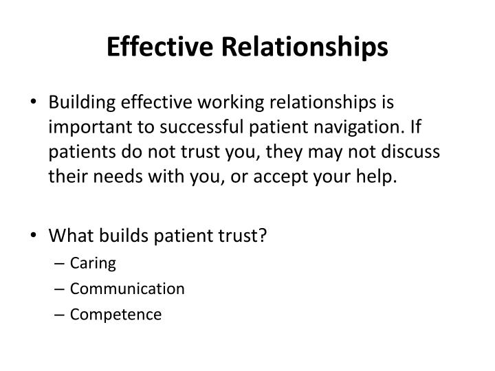 Effective Relationships
