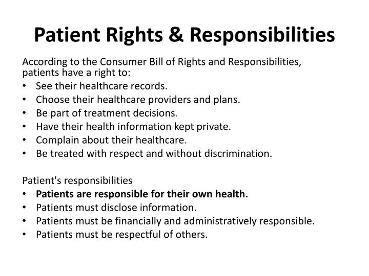 Patient Rights & Responsibilities