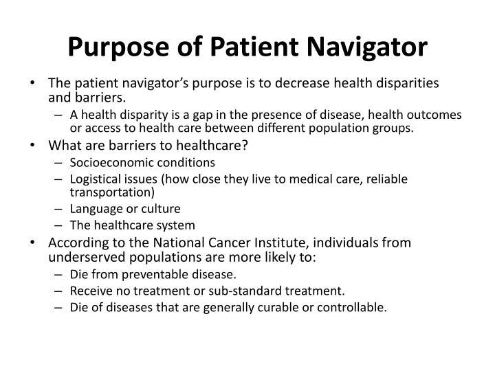 Purpose of Patient Navigator