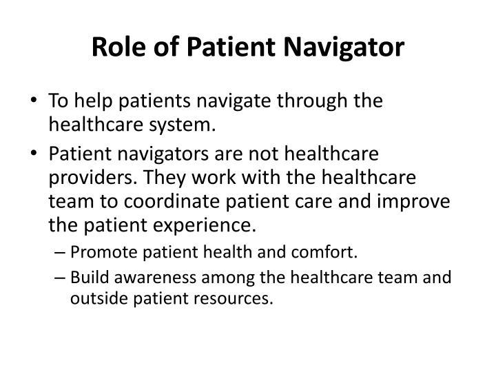 Role of Patient Navigator
