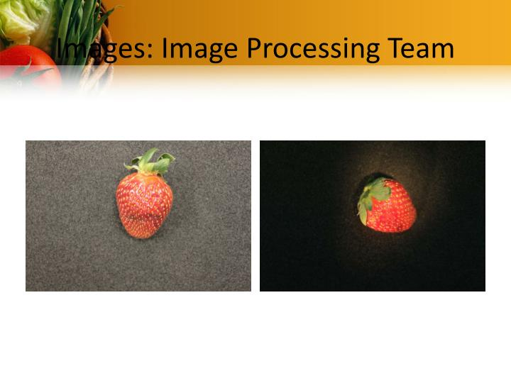 Images: Image Processing Team